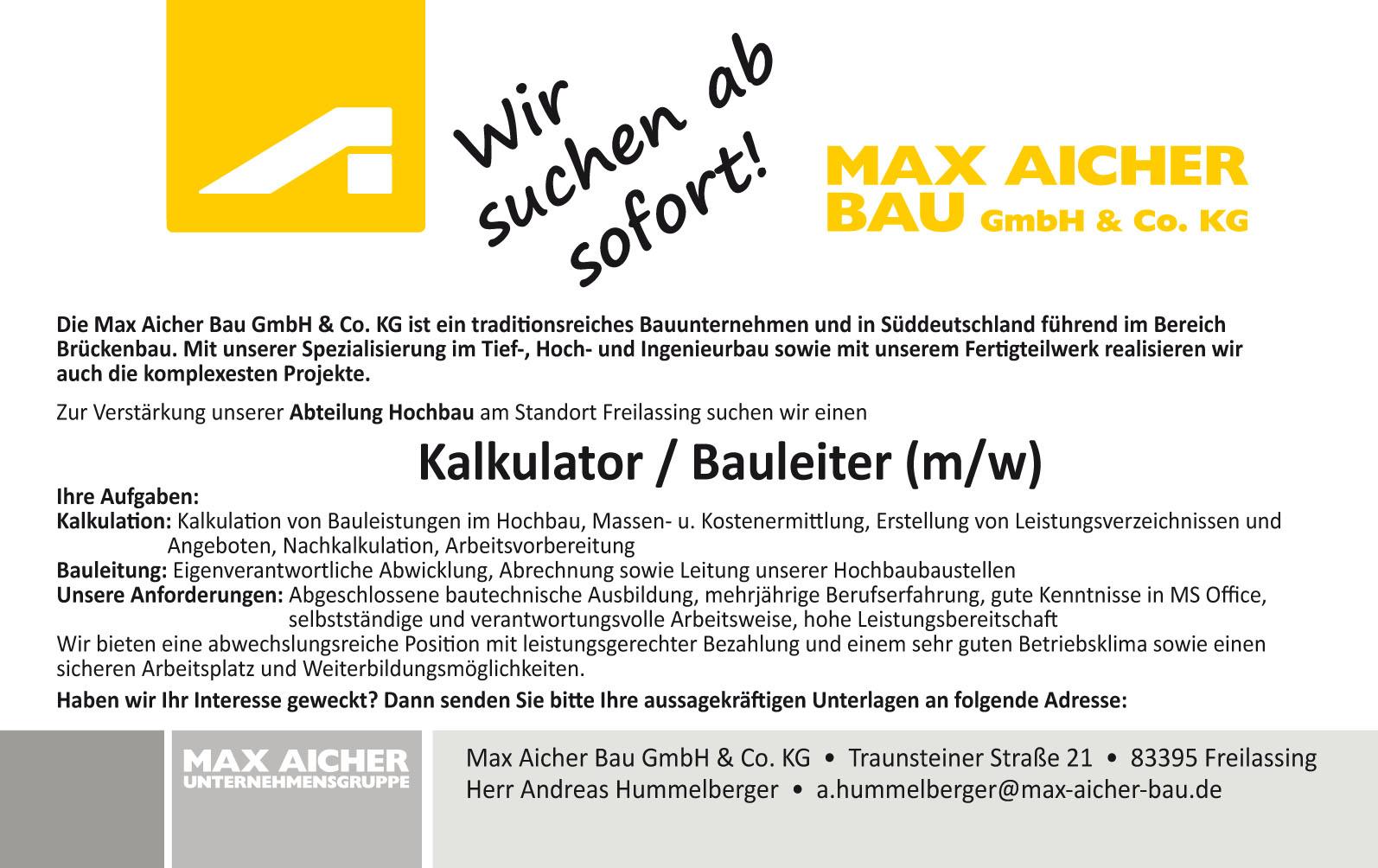 12.01.17 Bauleiter & Kalkulator