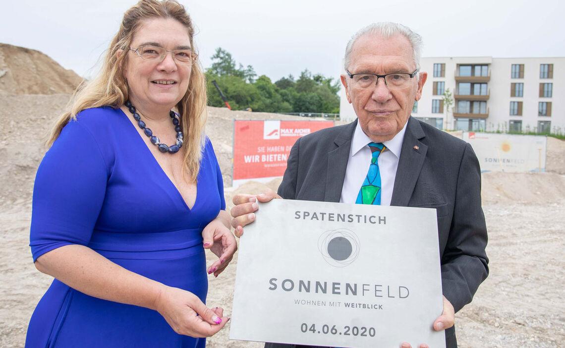 Spatenstich Sonnenfeld Grundstein